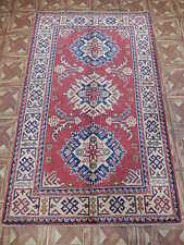 3x5 Handmade Home Office/Study Heavily Patterned Area Rug Kazak Carpet