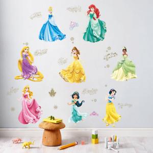 PRINCESS Decal WALL STICKER Vinyl Mural Kids Girls Room Decor UK SS6