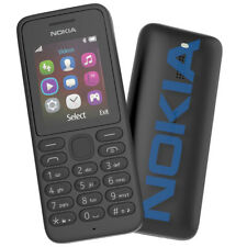NOKIA 130 SIM FREE MOBILE BLACK  FM Radio LED Torch UK Seller