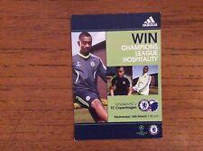 Chelsea v FC Copenhagen 2010-2011 Champions Lg COLOUR FLYER