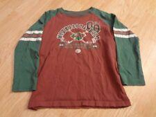 Youth Girls Minnesota Wild Sz 5/6 L/S T-Shirt Tee Squirt Squad