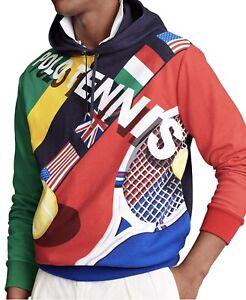 Polo Ralph Lauren Mens Tennis Hoodie Sz L MSRP  $268