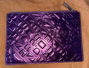 Liebeskind Metallic Purple Clutch With Dust Bag (Genuine Leather)