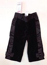 NWT Gymboree Glamour Kitty 6-12 Months Black Velveteen Satin Bow Tuxedo Pants