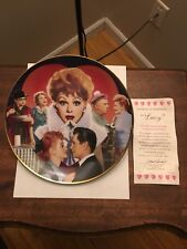 I Love Lucy Plate, Lucy With COA!! Brand New Never Used