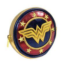 Metálico Wonder Woman escudo moneda bolso