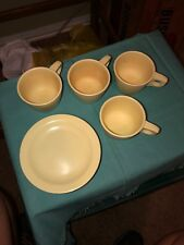 Boontonware Vintage Melmac Yellow-set of 4 Cups and Saucers