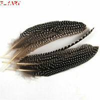 5PCS Natural Black Color White Dots Pheasant Feathers Fly Fishing Tying Material