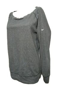 Nike  dri- fit WOMEN LARGE Athletic Loose pull over Long Sleeve  Sweater(#m6
