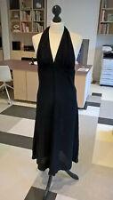 Vintage halter neck black dress S