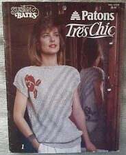 1986 Susan Bates Vintage 17758 PATONS Tres Chic Knitting Beautiful Sweaters Tops