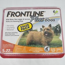 Frontline Plus For Dogs Small Dog 5-22 pounds (6-Dose Flea & Tick Treatment) New