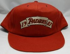 SAN DIEGO PADRES 1987 hat cap SD snapback orange adult adjustable MLB baseball