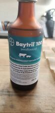 New listing (Baytril) Enrofloxacin Injection 10% - 250ml bottle new but just expired.