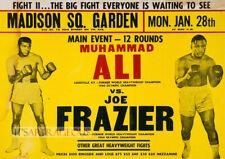 Retro 1974 Muhammad Ali vs Joe Frazier Advertising Poster A3 A2 A1 Print