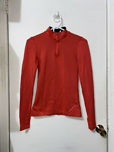 Womens Under Armour Cold Gear Fitted  1/4 Zip Pullover Running Jacket Coral XS