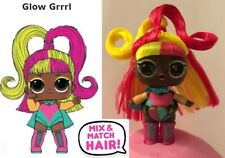 LOL SURPRISE HAIRVIBES GLOW GRRRL BAMBOLA DOLLS SCUBA JELLY DISCO SUPREME QUEEN