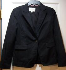 Banana Republic Black LS Lined Stretch One Button  Jacket  Size 6P P171