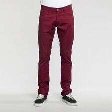 CARHARTT Stretch BEBEL PANT Huron COTTON/LYCRA RIGID W32L34 Bordeaux