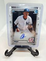 OSWALD PERAZA 2020 Bowman Chrome 1st Auto RC Autograph New York Yankees CPA-OP