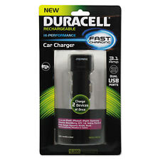 Duracell Car Charger for USB Devices Two Ports LED Light PRO168