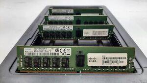 LOT 4 CISCO-SAMSUNG 15-104067-01 8GB DDR4 PC4-2400 19200 ECC REG DIMM MEMORY RAM