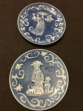 Vtg Royal Copenhagen Mors Dag Mother'S Day Plate 1971 & 1972 Very Good Condition