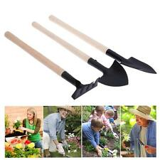 3pcs/set Shovel Rake Spade Wood Handle Metal Head Kids Tool Mini Garden Tools