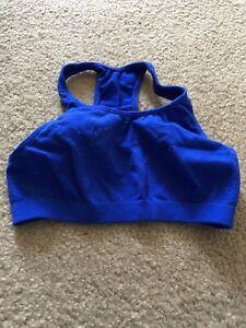 Womens Fruit Of The Loom Blue Sports Bra Size S