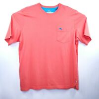 Tommy Bahama New Dubarry Coral Mens Pocket SS T-shirt NWT Size  Pima Cotton