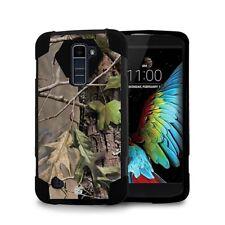 For LG K10 Premier LTE Armor Hybrid Rugged Tough Case Cover Hunter Tree Camo