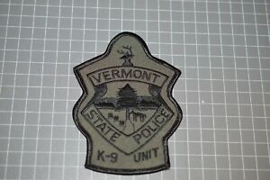 Vermont State Police K-9 Unit Patch (B17-10)