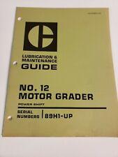Cat Caterpillar 12 Motor Grader Lubrication Amp Maintenance Manual 89h1 Up