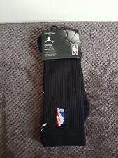Nike Nba Jordan QUICKGRIP Crew Socks-Size UK 8-11 - SX6363 Negro 010 1 Par