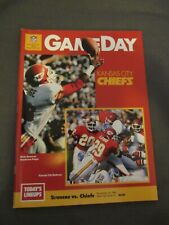 1986 Denver Broncos vs. Kansas City Chiefs Program Stephone Paige