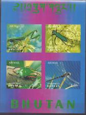 Bhutan sheets Mi 22 Mi 273-276 MNH |3D|, Insecten, Insects, Insekten [041]
