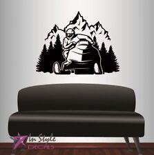 Wall Vinyl Decal Snowmobile Mountains Extreme Sports Winter Art Sticker 2291