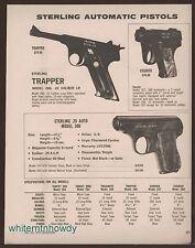 1973 STERLING Trapper 286, Courier, .25 Auto Model 300 Pistol AD