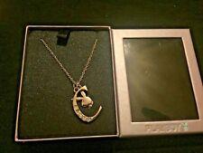 Necklace Letter C Silver Colour Playboy