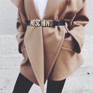 IT Cintura in pelle liscia fibbia cintura moda donna MOSHINO fashion