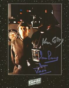 Star Wars Dave Prowse and Ken Colley hand signed photo UACC reg Dealer with COA