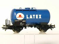 Roco 47092   H0  Kesselwagen LATEX der DB, blau, KK-Kulissen wie neu in OVP