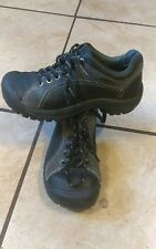 KEEN Women's Briggs Black Leather Lace Up Oxford Casual Walking Shoes Size 6