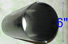 RIGID BLACK PLASTIC DUCTING: conduit for 6 inch ventilation fans, 15 inches long