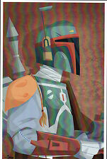 Animated Star Wars - BOBA FETT PRINT HAND SIGNED Jorge Baeza