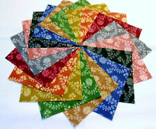 "36 5"" Quilting Fabric Squares Beautiful Pastime Floral Tonals !!!!!"