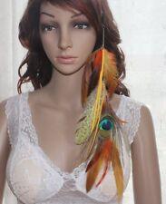 2 Piece 54A2-4 Tassel Natural Peacock Feather Hair Extension Hair Clip Lhf140528