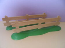 PLAYMOBIL – 2 barrières en bois beige clair / Wooden fence / 4188 4207 5227