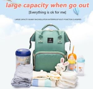 Multi-Function Baby Diaper Bag Large Capacity Nappy Bag With USB Port & Strap