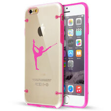 For iPhone Clear TPU Hard Case Cover Female Gymnast Twirling Baton Gymnastics